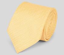 Krawatte aus Leinen-Seide Gelb