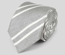 Schmale Krawatte aus Seide-Leinen