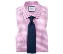 Extra Slim Fit Hemd in Rosa mit Gingham-Karos