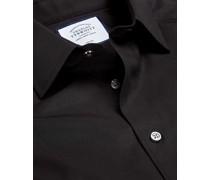 Bügelfreies Popeline-Hemd Schwarz