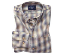Classic Fit Popeline-Hemd in Gold und Blau