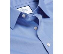 Bügelfreies Royal-Oxfordhemd Ozeanblau
