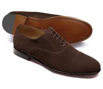 Oxford-Schuhe aus Veloursleder in Schokoladenbraun