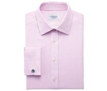 Slim Fit Hemd aus ägyptischer Baumwolle in Rosa