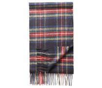 Schal aus Kaschmir in Schwarz mit Schottenkaro