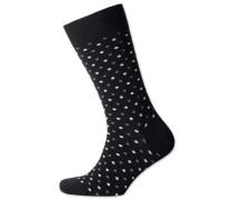 Socken in Schwarz mit kleinen Punkten