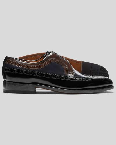 Goodyear-rahmengenähte Budapester Derby-Schuhe