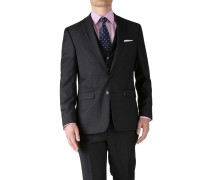 Slim Fit Business Anzug Sakko aus Twill