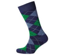 Socken mit Argyle-Muster in Marineblau und Grün