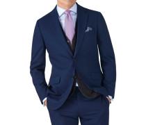 Slim Fit Business Anzug Sakko aus Krepp
