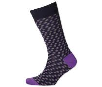 Socken mit Schatten-Punkten in MarineBlau