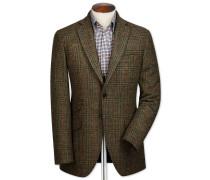 Slim Fit Sakko aus englischem Tweed in Grün