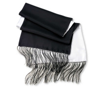 Seidenschal in Schwarz und Weiß (beidseitig