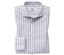 Slim Fit Hemd mit Haifischkragen in Grau