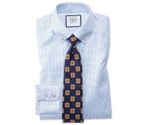 Classic Fit Twill-Hemd mit Button-down Kragen