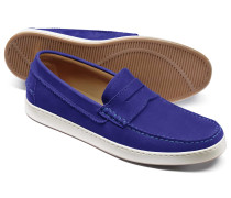 Sattel-Slipper in Blau