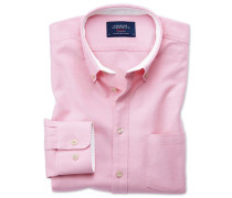 Slim Fit Oxfordhemd in hellPink Knopfmanschette