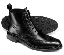 Budapester Stiefel mit Flügelkappen in Schwarz