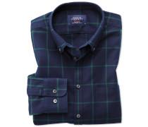 Classic Fit Oxfordhemd in MarineBlau und Grün