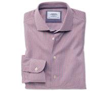 Classic Fit Business-Casual Hemd in Rot und Blau