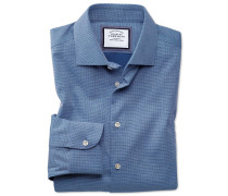 Extra Slim Fit Business-Casual Hemd in Königsblau