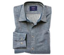 Classic Fit Schlupfhemd in Jeansblau