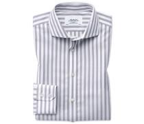 Extra Slim Fit Hemd mit Haifischkragen in Grau