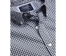 Bügelfreies Popeline-Kurzarmhemd