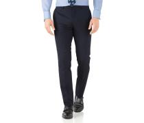 Slim Fit Business Anzug Hose aus Hairline in marin