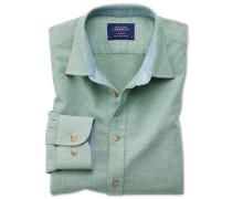 Classic Fit Hemd in gewaschenem Mittelgrün