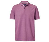 Poloshirt aus Oxford-Gewebe in BeerenRot