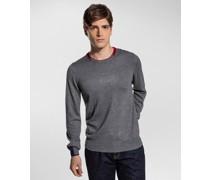 Slim-Fit-Pullover aus Wollgemisch