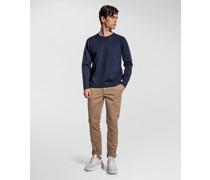 Slim-Fit-Pullover aus Schlingenstich-Trikotgewebe