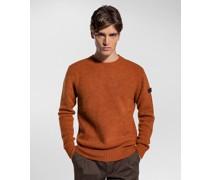 Pullover mit Rundausschnitt aus Merino-Stretchstoff