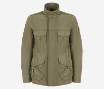 Field Jacket aus Taft mit vier Taschen