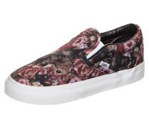 Classic Slip-On Moody Floral Sneaker Kleinkinder Schwarz