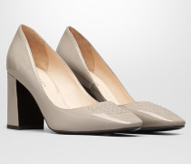 CHERBOURG  PUMPS AUS INTRECCIATO KALBSLACKLEDER IN MINK