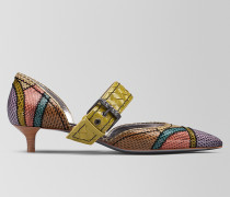 PUMPS MIT KITTEN-HEEL D'ORSAY AUS AYERS MULTICOLOR