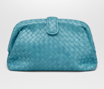 THE LAUREN 1980 CLUTCH MIT OBERFLÄCHE AUS INTRECCIATO NAPPA IN AQUA