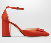 CHERBOURG PUMPS AUS NAPPA IN DARK TERRACOTTA