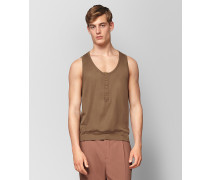 TOP AUS BAUMWOLLE IN CAMEL