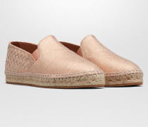 GALA ESPADRILLE AUS CANVAS IN ROSE GOLD MIT INTRECCIATO DETAILS