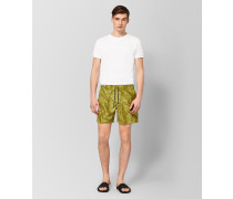 BADESHORTS AUS POLYESTER IN OLIVE