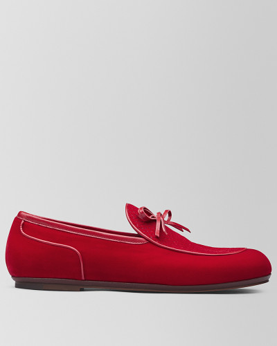 BV TRINITY LOAFER AUS SAMT IN RED