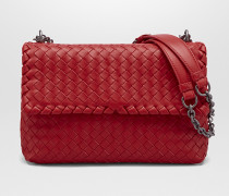 KLEINE OLIMPIA TASCHE AUS INTRECCIATO NAPPA IN CHINA RED
