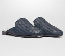 FIANDRA SLIPPER AUS INTRECCIATO NAPPA IN DENIM