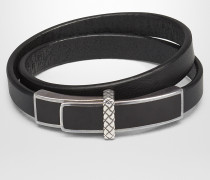 ARMBAND IN MATERIALMIX IN NERO