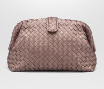 THE LAUREN 1980 CLUTCH AUS INTRECCIATO KARUNGLEDER IN DESERT ROSE