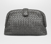 THE LAUREN 1980 CLUTCH MIT OBERFLÄCHE AUS INTRECCIATO NAPPA IN LIGHT GREY
