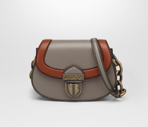 UMBRIA BAG AUS KALBSLEDER IN STEEL MIT MATERIALMIX-DETAILS